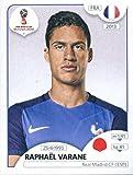 Coupe du monde de football Stickers Russie 2018Panini 195Raphael Varane France Soccer Autocollant
