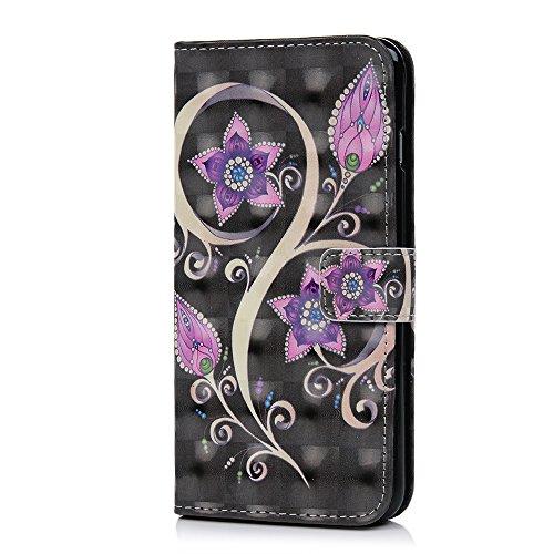 Lanveni Handyhülle für iPhone 6 Plus / iPhone 6S Plus Hülle Flip Case Cover PU Lederhülle Schutzhülle Magnetverschluss Ledertasche mit Stander Function Brieftasche Card Slot Handy Tasche mit Bunte Mus Farbe 6
