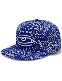 LOCOMO Abstract Art Graffiti Big Eye Painting Baseball Cap FFH252BLK