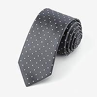 YUBIN Corbata Moda para Hombres Punto Reducción De La Edad Comercio Salvaje Teñido De Hilado Corbata Informal (Color : B)