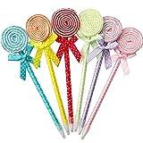 6PCS stylobille penna a sfera colori casuali