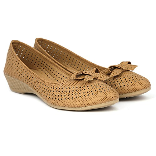 Denill Women's Tan Synthetic Bellies - 5UK/IND (38EU)