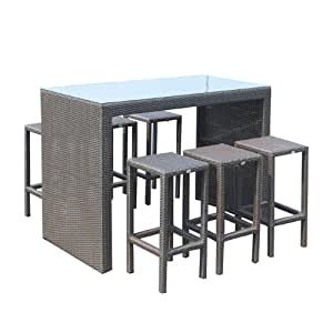 tisch und st hle rattan poly m bel garten mod september bar set bar. Black Bedroom Furniture Sets. Home Design Ideas