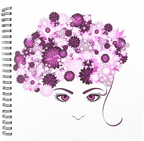 3dRose DB 111586_ 1A Damen Face mit Pink Flower Hair, Zeichenheft, 820,3cm