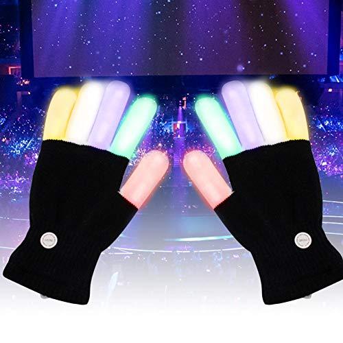 (Beimaji Handschuhe, LED-Handschuhe, Blinkende Fingerhandschuhe, Halloween, Weihnachten, Feiertage, Musik, Festival, Kostüm, Party, Geschenk)