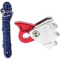 FLAMEER 10m 10mm Extérieur Escalade Corde Sauvetage Rappel Corde De Sécurité Bleu+en Plein Air Escalade Alpinisme Corde Grappin Protecta pour Corde 9mm-12mm
