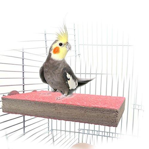 Percha de madera para jaula de mascotas
