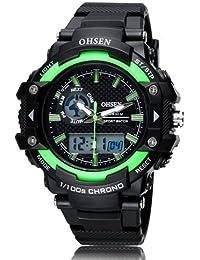 OHSEN Hot Sale Fashion Brand OHSEN LED Mens Sports Watches Digital Watch Men Man Alarm Date Day Stopwatch Rubber... - B077RTKVJP