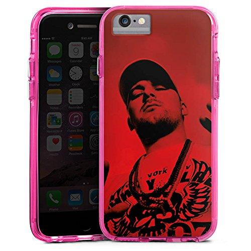 Apple iPhone 6s Bumper Hülle Bumper Case Glitzer Hülle Kool Savas Fan Article Merchandise Fanartikel Merchandise Bumper Case transparent pink