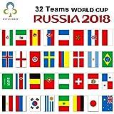 Qiusa 2018 Russia Coppa del Mondo di Calcio 32 Paese Stringa Bandiera 14x21 cm Paese Banner Bar Home Calcio Calcio Fan Decorazione del Partito GYH