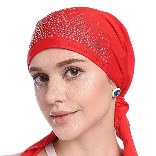 0200fae5a8 Là Vestmon Turbante Chemioterapia Donna Estivo Anti UV Elegante Bandana  Turbanti Set per Chemio, Cancro