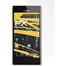 3 x atFoliX Película Protectora Huawei Ascend P2 Lámina Protectora de Pantalla - FX-Antireflex anti-reflectante