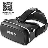 DESTEK 3D VR Gafas de Realidad Virtual VR con lente ajustable y correa para 4.0-5.7 pulgadas iPhone 5 6s Plus Samsung S6 Edge NOTE 5 LG G3 G4 Nexus 5 6P