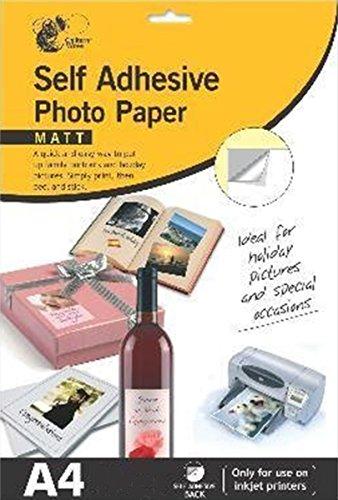 Chiltern Wove Selbstklebendes Fotopapier, A4, 2Packungen à 10 Blatt, 20Blatt