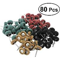 UKCOCO Ruedas abrasivas 80pcs que pulimentan el conjunto accesorio del taladro del sistema de pulido para las herramientas rotatorias de Dremel
