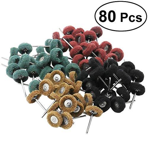 UKCOCO - Juego 80 piezas ruedas abrasivas pulido Dremel