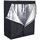 COSTWAY Plant Growing Tent, Indoor Hydroponic Grow Room with Reflective Water-Proof &Aluminum Foil