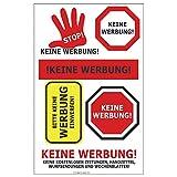 Herlitz 11296415 Etiketten Keine Werbung, 1 Bogen, selbstklebend