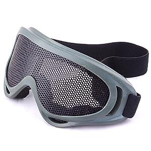 Sijueam® Masque Grillagé Airsoft Lunettes de Tir Anti-buée métal Protection des Yeux pour CS Pistolet Guerre Jeux Bataille Paintball Chasse Cyclisme Activités extérieures