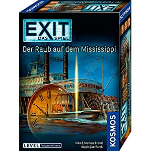 51ZhWN%2BnJtL. SS300  - KOSMOS 691721 EXIT - Das Spiel - Der Raub auf dem Mississippi, Level: Fortgeschrittene, Escape Room Spiel