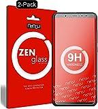 nandu I ZenGlass [2 Stück] Flexible Glas-Folie für Wiko View Panzerfolie I Display-Schutzfolie 9H I (Kleiner Als Das Gewölbte Display)