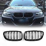 Areyourshop Kidney Hood griglie anteriore nero lucido per E90/E91LCI 3Series 2008-2012