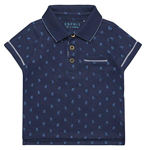 Jungs Kleidung Süße (ESPRIT Baby-Jungen Poloshirt RL1100202, Blau (Marine Blue 446), 80)