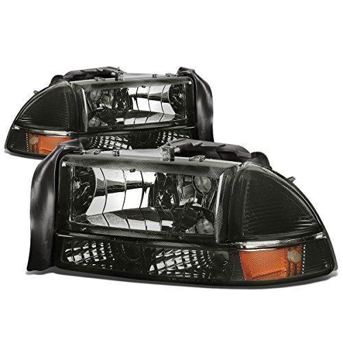dodge-dakota-durango-4pcs-replacement-headlight-lights-kit-smoke-lens-amber-reflector-by-auto-dynast
