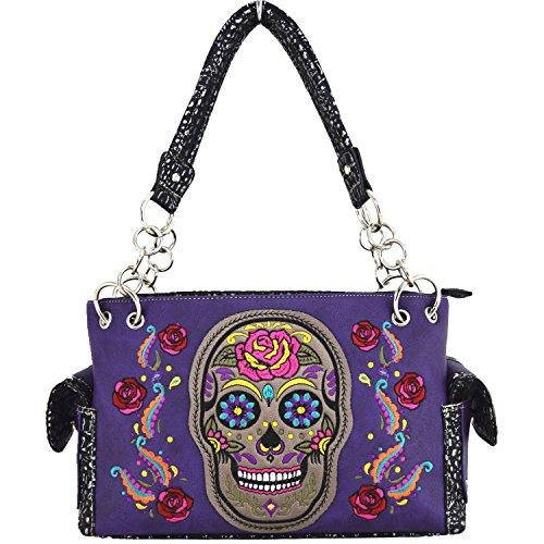 Blancho Biancheria da letto delle donne [Colorful Bone] PU Leather Bag Set Elegante Portafoglio Hanbag Comobo Fashion Bag viola Combo-Viola