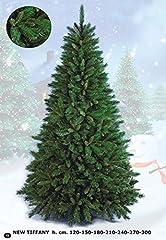 Idea Regalo - Flora New Tiffany Albero di Natale, Verde, 210 cm
