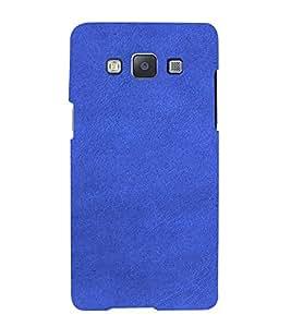 PrintVisa Blue Leather Design 3D Hard Polycarbonate Designer Back Case Cover for Samsung Galaxy A7
