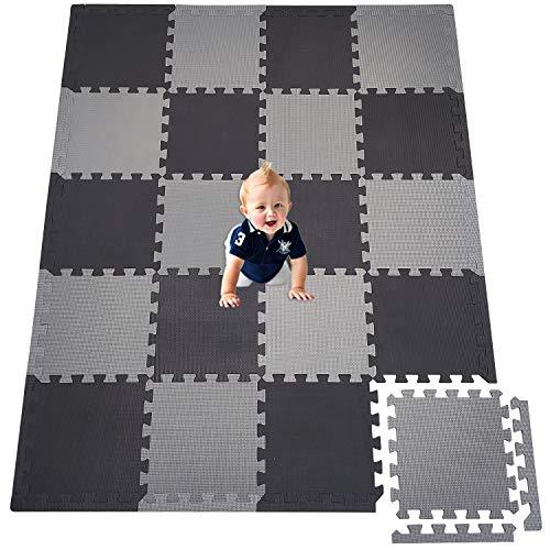 XMTMMD Life Soft Play Mats für Kinder Pure Colour EVA-Schaum Mats Spielmatte Ungiftig Krabbelmatte EVA-Schaum Bodenbelag jiasaw Matte Stylische Puzzlematte für Babys 20PCS AMCDW104112Z301020