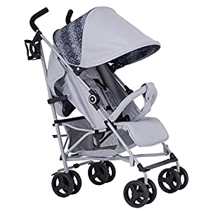 MY BABIIE DREAMIE My Babiie Samantha Faiers MB02 Snake Stroller Mu The adjustable 5-point safety harness has comfortable shoulder pads, The sturdy frame has a wider seat which results in a more comfortable ride for your child The stroller can be easily folded, smaller and more portable; the adjustable backrest angle can be seated or lying down, as well as a large shopping basket and caster * EASY TO FOLD: It can be used in one-button car collection, easy to handle all kinds of occasions, save space, easy to carry, easy and labor-saving 7