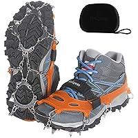 Unigear Steigeisen für Bergschuhe, Schuhkrallen, Eisspikes, Schneekette, Grödel und Spikes für Klettern Bergsteigen Trekking High Altitude Winter Outdoor