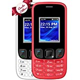 I KALL K29 Dual Sim Mobile Combo Of Two Basic Feature Mobile Phone With 1800 Mah Battery Capacity - White And Red