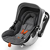 Kiddy Babyschale Evoluna i-Size 2 inkl. Isofix Base 2, 2018, Farbe:Retro Charcoal