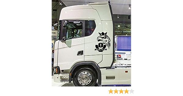 Myrockshirt Scaniaaufkleber Greif Super V8 Ca 40 Cm Aufkleber Sticker Decal Autoaufkleber Uv Waschanlagenfest Profi Qualität Auto