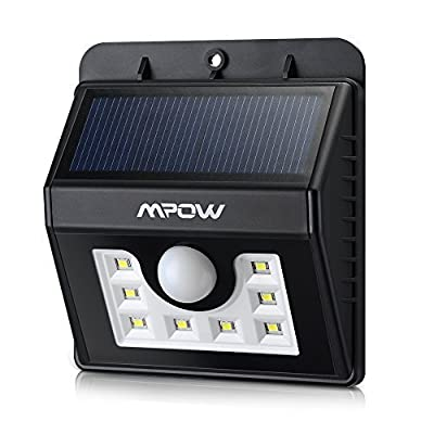 8 Bright LED Solar Lights, Mpow 3-in-1 Wireless Weatherproof Security Light Motion Sensor Lamp with 3 Intelligent Modes for Garden, Outdoor, Fence, Patio, Deck, Yard, Home, Driveway, Stairs, Outside Wall etc. - low-cost UK light store.