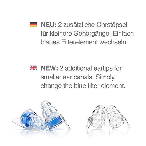 Senner MusicPro Gehörschutz Ohrstöpsel mit Alubehälter. Ideal für Musik, Konzert, Disco und Festival, clear/transparent - 6