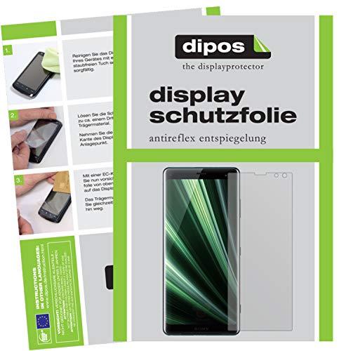 dipos I 2X Schutzfolie matt passend für Sony Xperia XZ3 Folie Bildschirmschutzfolie