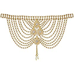 The Luxor Backdrop Wedding Necklace Body Chain Jewellery Accessories for Women (ACC6153)