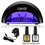 LED Nail Lamp Kit, Elite99 12W Black Professional Nail Dryer Machine Fast Curing