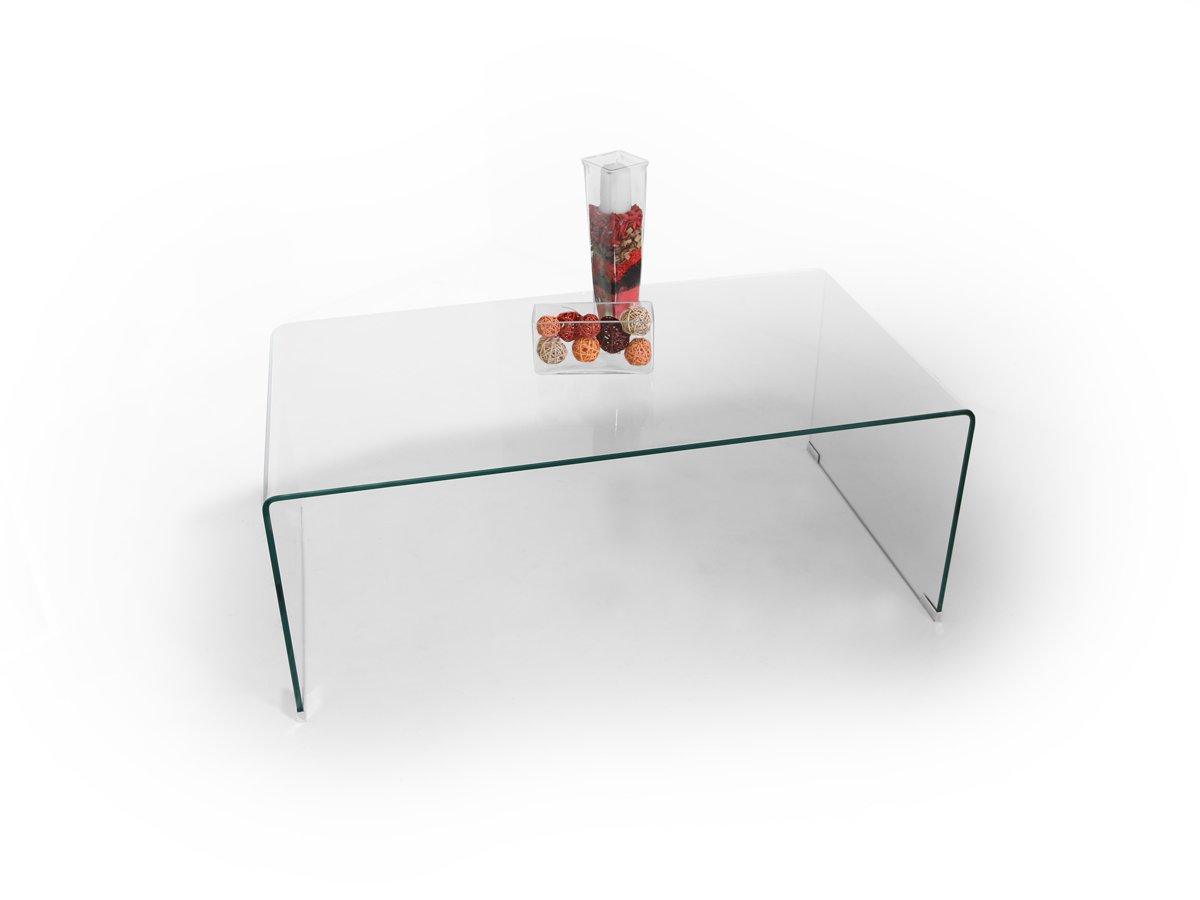 CECILE Design Couchtisch Tisch Wohnzimmertisch Glastisch Beistelltisch Klarglas