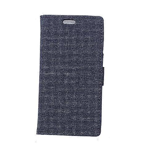 Coque pour LG Nexus 5X,Housse en cuir pour LG Nexus 5X,Ecoway Céréales Burlap téléphone ensembles étui en cuir Cuir Flip Magnétique Portefeuille Etui Housse de Protection Coque Étui Case Cover avec Stand Support Avec des Cartes de Crédit Slot et Fonction Support pour LG Nexus 5X – noir