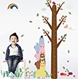 #5: UberLyfe Tree with Animals, Rainbow Height Chart Wall Sticker - 6 Ft. Size 5 (Wall Covering Area: 208cm x 170cm) - WS-1059