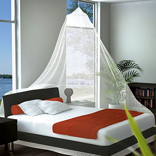 Moustiquaire de voyage pour lit simple ou double avec sac de transport pratique Blanc Format XXL 1250 x 250 cm