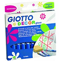 Giotto Decor Glass pastelli a cera vetrografici in astuccio 10 colori