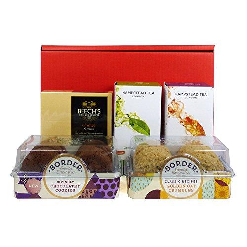 Scatola regalo Deluxe con tè e biscotti - Regalo perfetto per il compleanno, per il buongiorno, come ringraziamento, festa della...