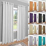 John Aird Luxury Faux Silk Fully Lined Eyelet Curtains