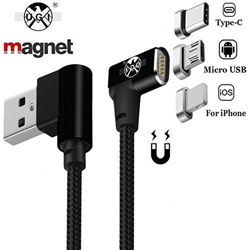 USB-Kabel Typ C,magnetische Micro-USB-C-Beleuchtung Kabel Charge Datenübertragung 3.3ft/6.6ft Kabel Schnellladung und Datensynchronisation für IPhone Android Samsung S7, S8, S9 HuaWei P10, P20 Mehr